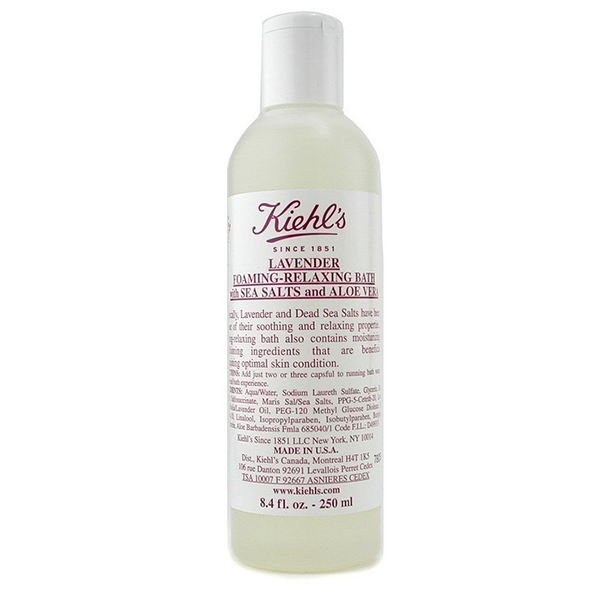 Shower Gels For Different Purposes Kiehls Lavender Foaming Relaxing Bath With Sea Salts And Aloe