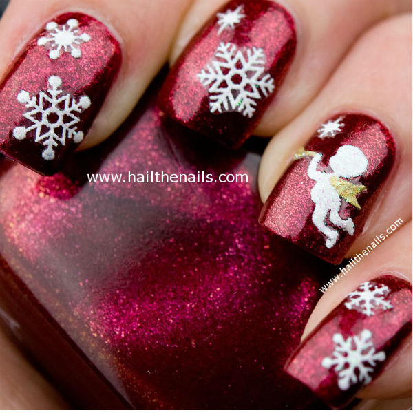 Angels Nail Art For Christmas Daily Vanity