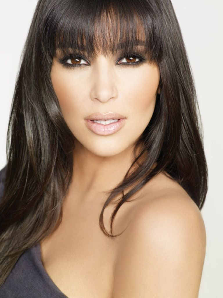 5 Fringes For 5 Face Shapes Kim Kardashian