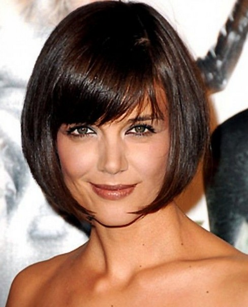 5 Fringes For 5 Face Shapes Katie Holmes
