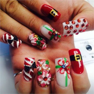 complicated 3d nail art  daily vanity
