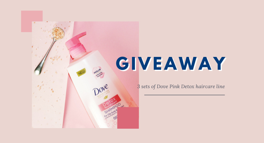 WIN a set of Dove's newest Pink Detox hair care line!