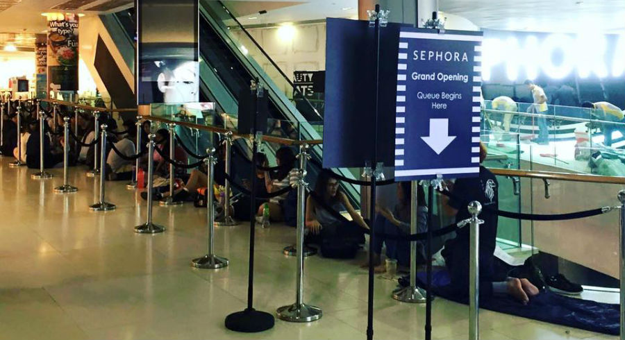 This is why there's a long queue outside the new Sephora ION Orchard when it opened last Friday