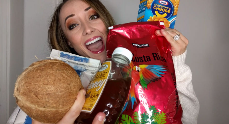 She used only food to create this makeup look and it's the tutorial you would keep watching