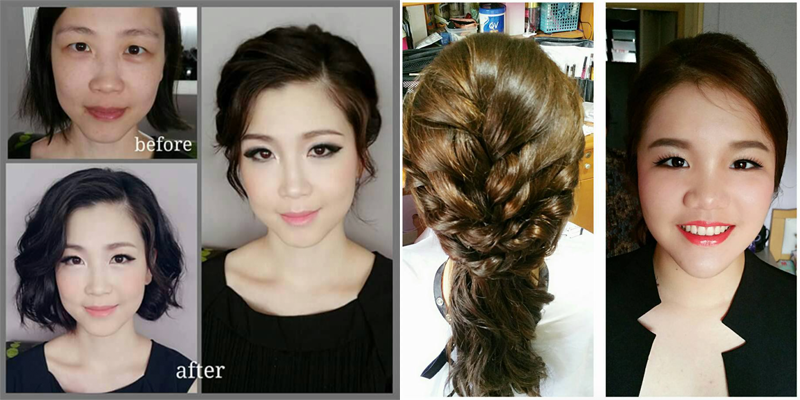 Rates: SGD550 for 1 trial, 2 bridal makeup looks and hairstyling and groom makeup. Contact No.: +65 9383 1502. E-mail Address: enquiry.wmua@gmail.com