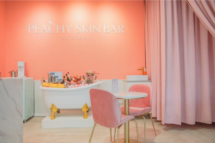 Unique Spas Singapore Peachy Skin Bar Interior