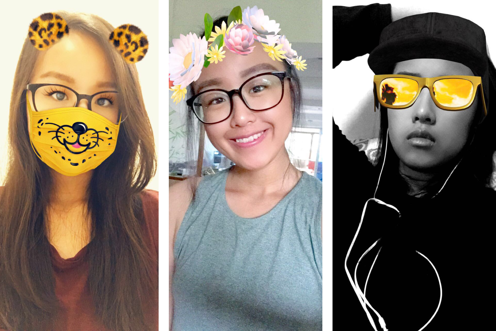 Best photo editing apps for selfies with popular selfie lenses such as the cute puppy and the coachella flower crown izmirmasajfo