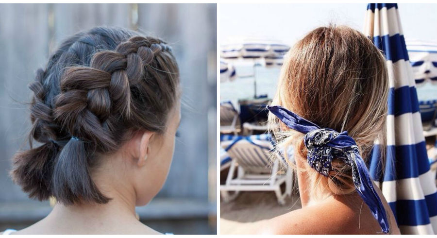5 ways to style medium-length hair for hot, humid weather