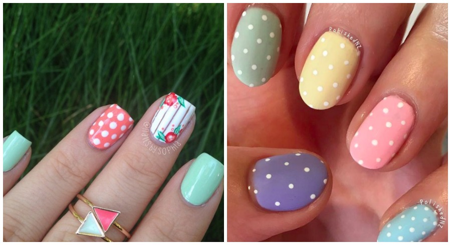 20 pretty polka dots nail designs to share with your manicurist