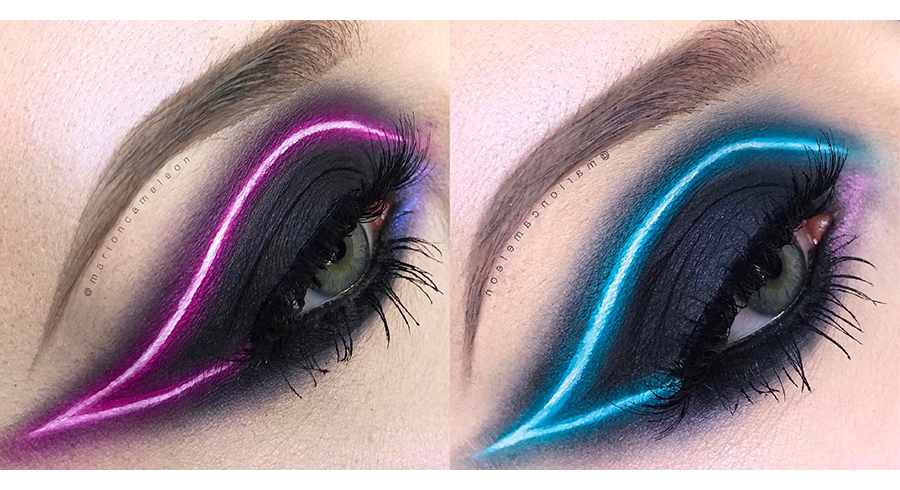 LED lights on your eyes?! Possible with this technique!
