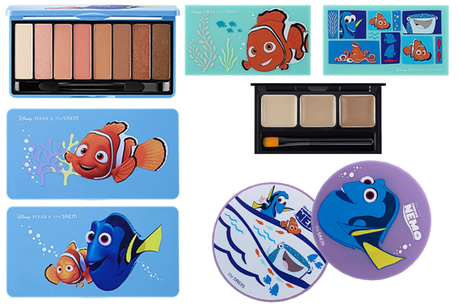 cute korean beauty products disney pixar the saem finding nemo