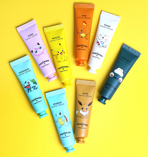 cute korean beauty products tony moly pokemon