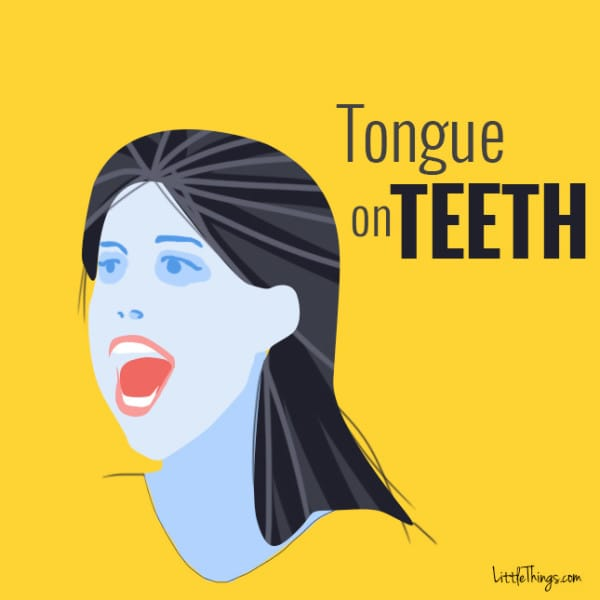 get rid of double chin tongue on teeth