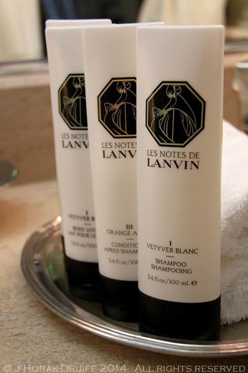 quality hotel amenities sofitel worldwide lanvin