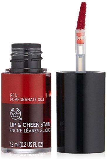 emma watson beauty routine The Body Shop Red Promegranate Lip Cheek Stain