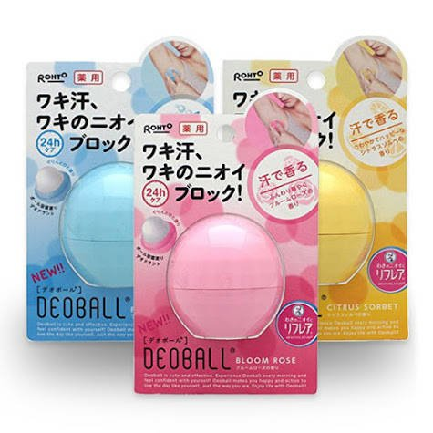 Japan Drugstore Beauty Products Rohto Deoball Deodorant