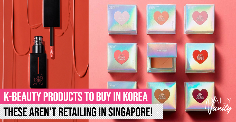 32 beauty products to buy in Korea that aren't sold in Singapore's retail stores