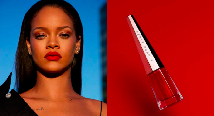 Fenty Beauty is launching their first lip colour – it's red and rad!