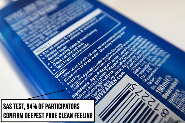 nivea men oil clear liquid foam review