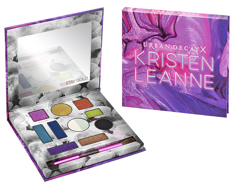 beauty irresistible packaging urban decay x kristen leanne kaleidoscope dream eyeshadow palette