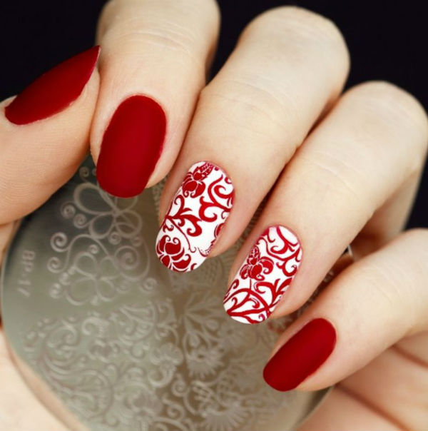 Cny Nails Red 3