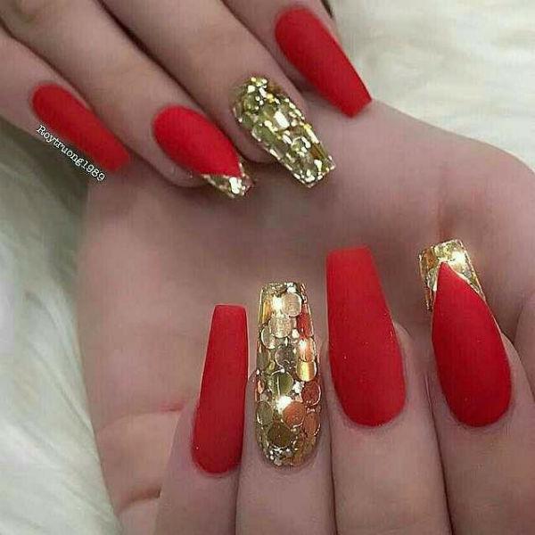Cny Nails Red 4