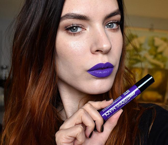 pantone ultraviolet makeup nyx liquid suede cream lipstick amethyst 1