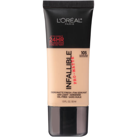 Best Drugstore Foundation L'oreal Paris Infallible Pro Matte Foundation