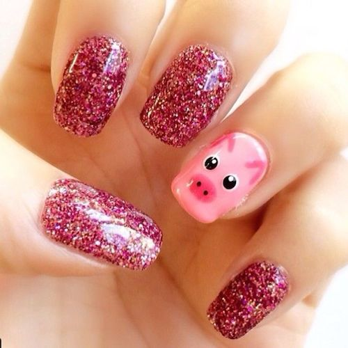 Chinese New Year Nails Pigs 1