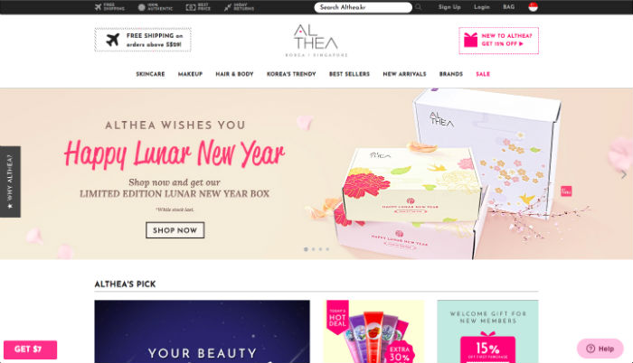 Online Beauty Stores Althea