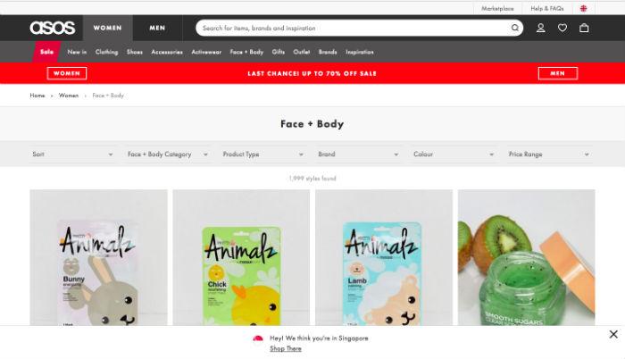 Online Beauty Stores Asos