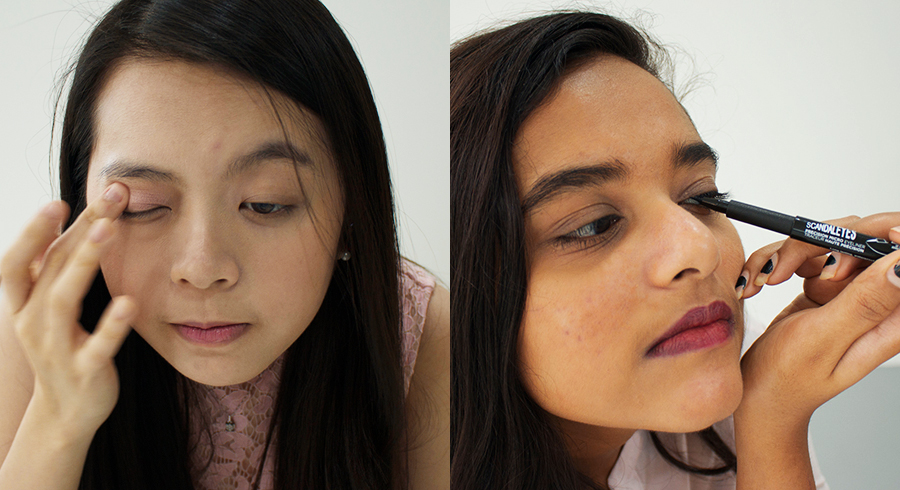 "We challenged 2 women to confront their ""makeup phobias"" and wear looks they've been scared to try for an entire day. This is what happened."
