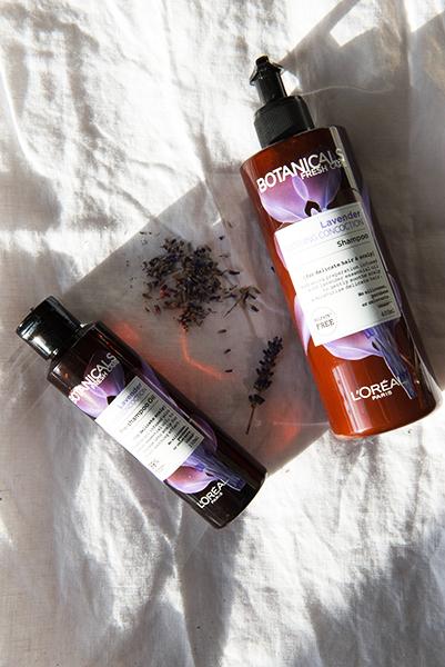 Loreal Paris Botanicals Fresh Care Organic Lavender Soothing Range Review Pre Shampoo Oil Shampoo