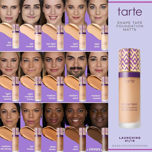 Inclusive Beauty Tarte Shape Tape Foundation 1