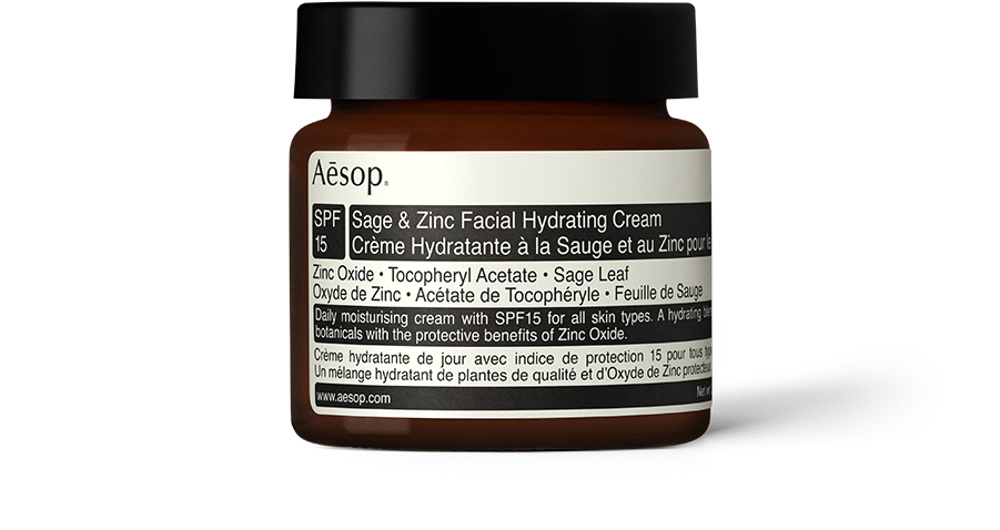 Best Moisturisers For Oily Skin Aesop Sage And Zinc Facial Hydrating Cream Spf15