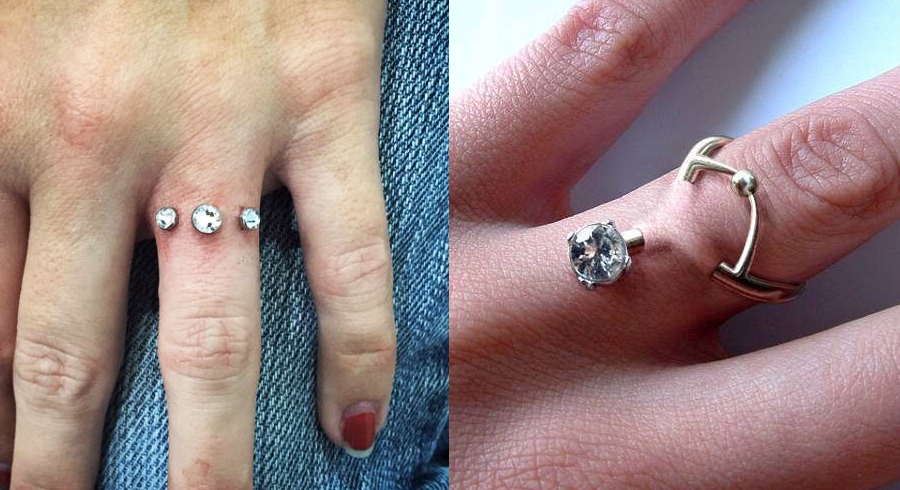 Finger piercings instead of engagement rings?! This new trend will make you cringe