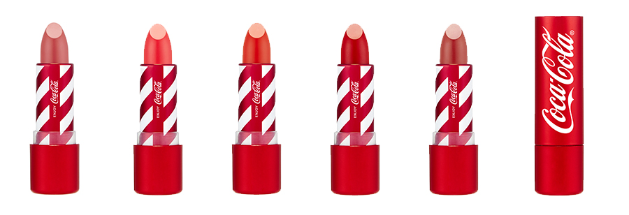 The Face Shop X Coca Cola Lipsticks