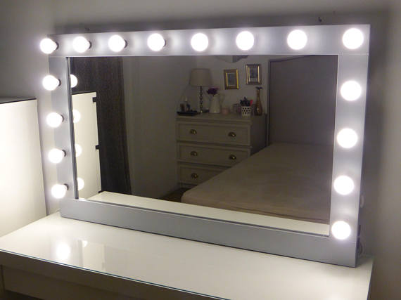 Where To Get Lighted Vanity Mirror Crafterscalendar Xl Hollywood Vanity Mirror