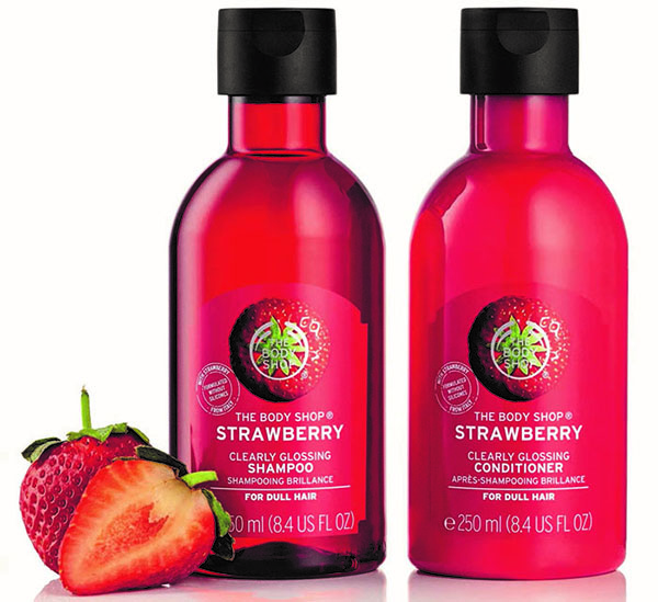Fragrant Hair Products The Body Shop Strawberry Clearly Glossing Shampoo