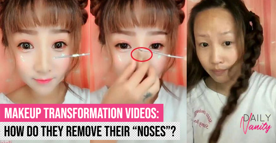 China's latest viral video that has women removing their makeup – and a nose?!