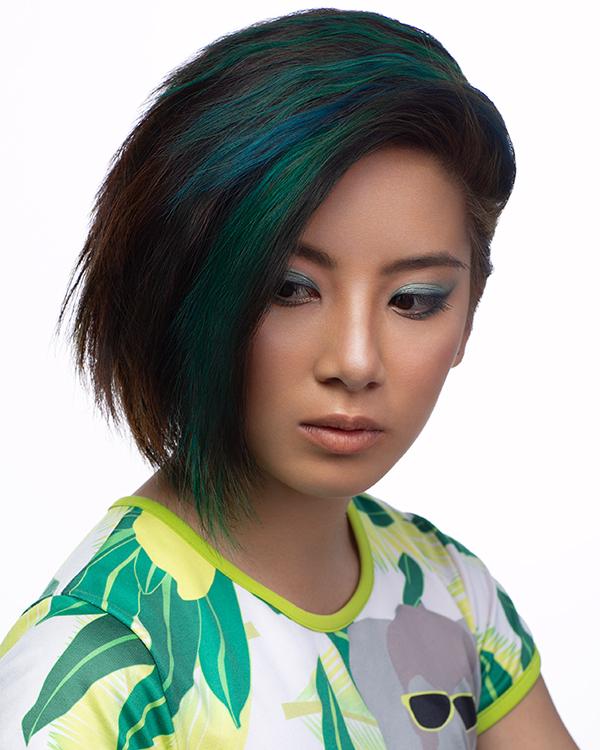 Best Salons For Vibrant Coloured Hair Green Short Hair