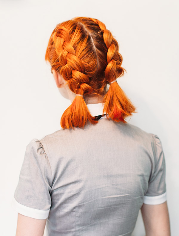 Hair Styles That Keep Hair Out Of Face Double Dutch Braid Pigtails
