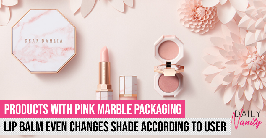 Pink marble-themed makeup?! We're obsessing over it right now