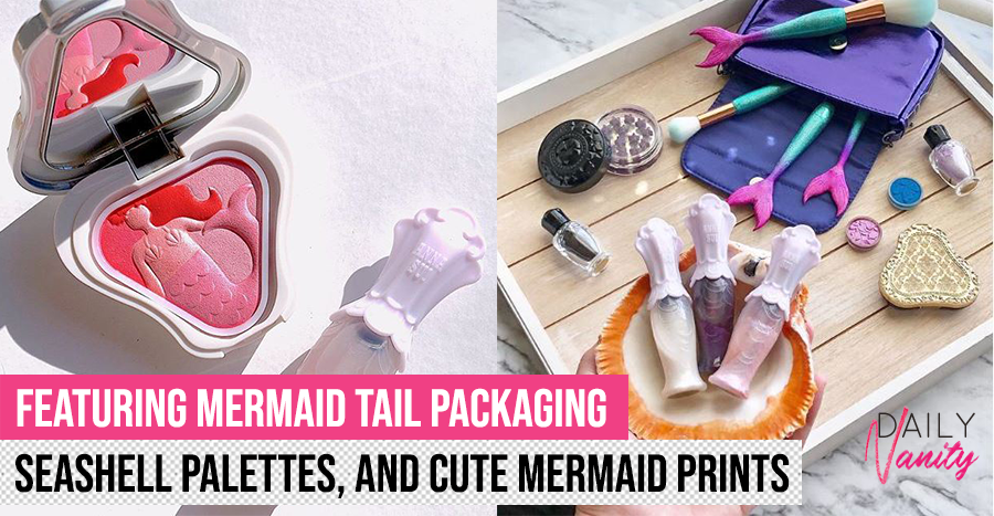 This mermaid-themed makeup collection includes seashell-shaped palettes and shimmery shadows that look magical