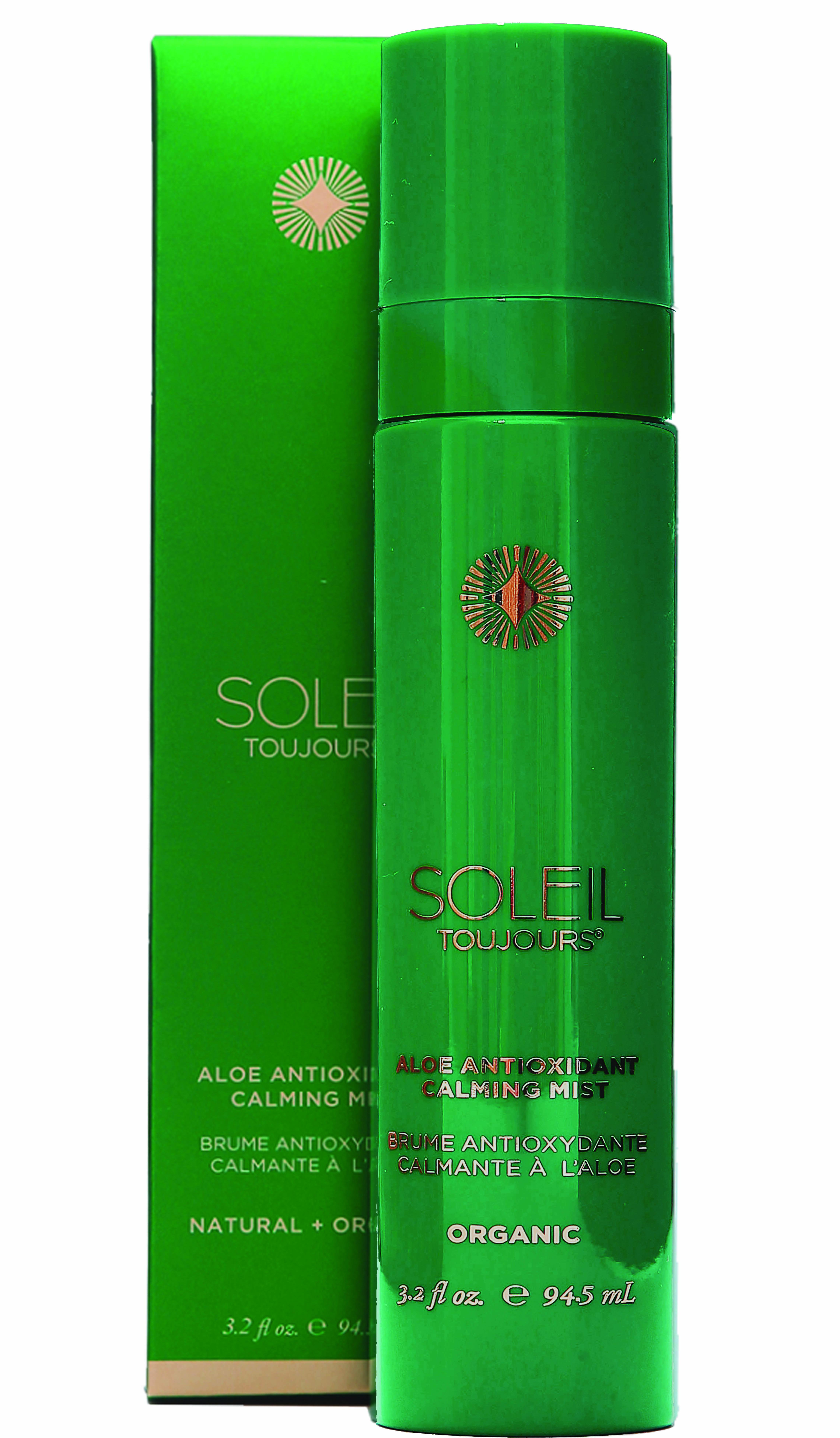 Beach Getaway Essentials Soleil Toujours Organic Aloe Antioxidant Calming Mist