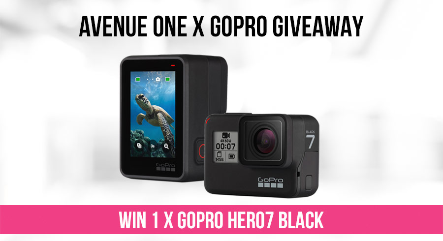 GIVEAWAY:  1 x GoPro HERO7 Black