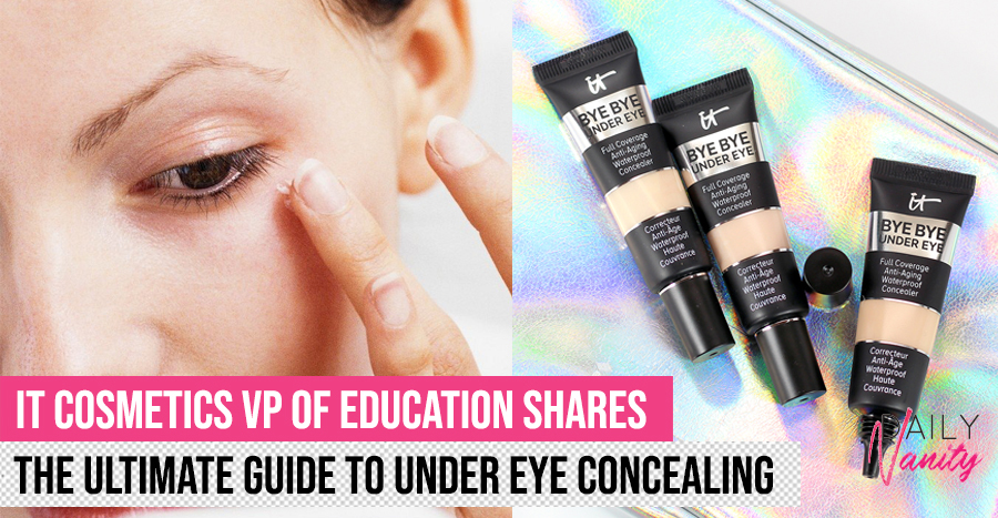 A guide to under eye concealers for dark circles and eye bags, as explained by an expert