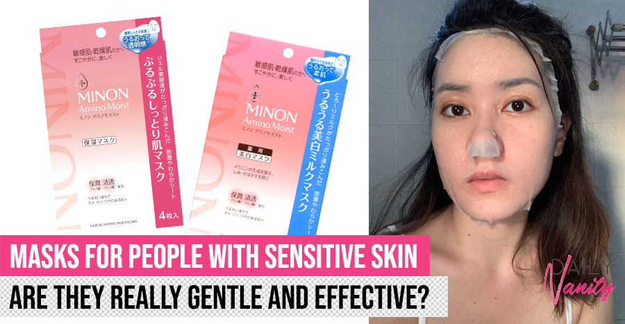 MINON Amino Moist's Whitening Milk Mask and Moist Essential Mask reviews: How do they work for people with sensitive skin?