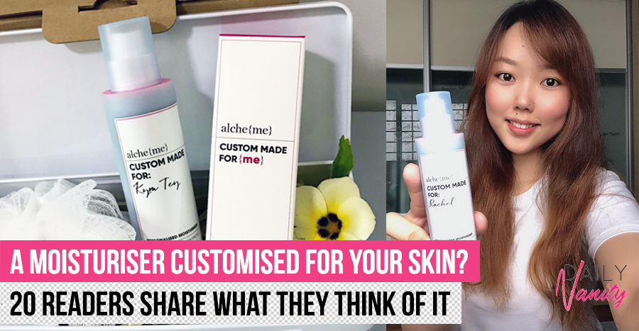 alche{me} Personalised Moisturiser: Can a moisturiser be customised to solve different skin issues?
