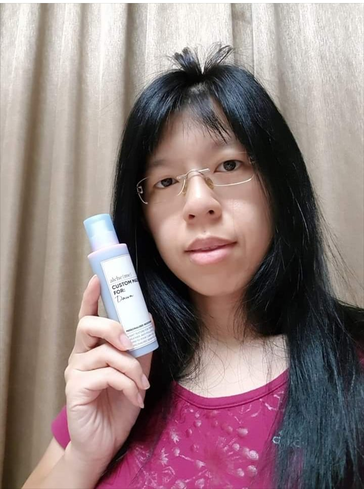 Alcheme Personalised Moisturiser Review Dawn Selfie